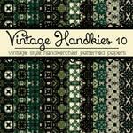 Free Vintage Handkies 10 Patterned Papers