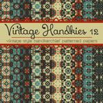 Free Vintage Handkies 12 Patterned Papers