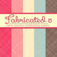 Free Fabricated 5: Fabric Textured Papers by TeacherYanie