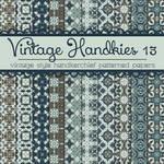 Free Vintage Handkies 13 Patterned Papers