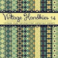Free Vintage Handkies 14 Patterned Papers