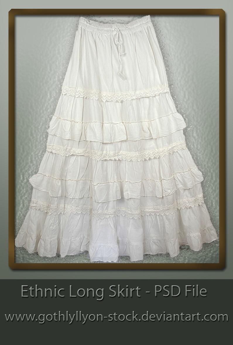 Stock-Skirt-Ethnic Long Skirt