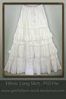 Stock-Skirt-Ethnic Long Skirt by GothLyllyOn-Sotck
