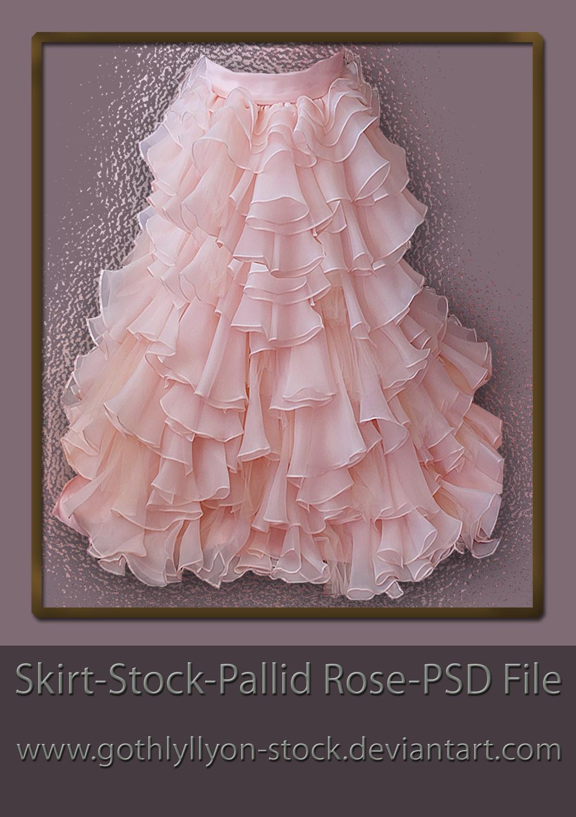 Stock-Skirt-Pallid Rose by GothLyllyOn-Sotck