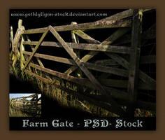 Farm Gate-by-GothLyllyOn-Stock by GothLyllyOn-Sotck