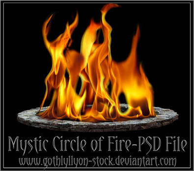 Mystic circle of fire-by-GothLyllyOn-Stock
