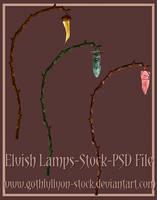 Elvish Lamps-Stock-by-GothLyllyOn-Stock by GothLyllyOn-Sotck