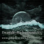 Dark Moon-Premade Background-by-GothLyllyOn-Stock