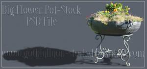 Big Flower Pot-Stock-by-GothLyllyOn-Stock