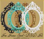 Oval Victorian Frames by GothLyllyOn-Sotck