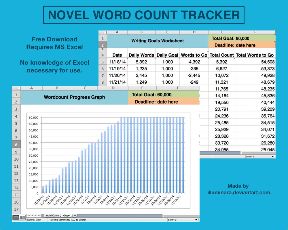 Novel Word Count Tracker by illuminara