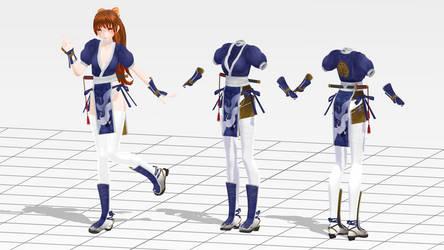 .: Kasumi Debut Blue Costume DL:.