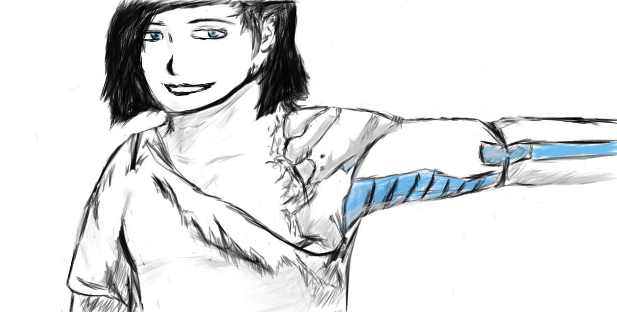 cyborg girl by Dot112