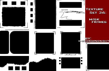 masklar Texture_Set_36_Mask_Frames_by_discordandnight