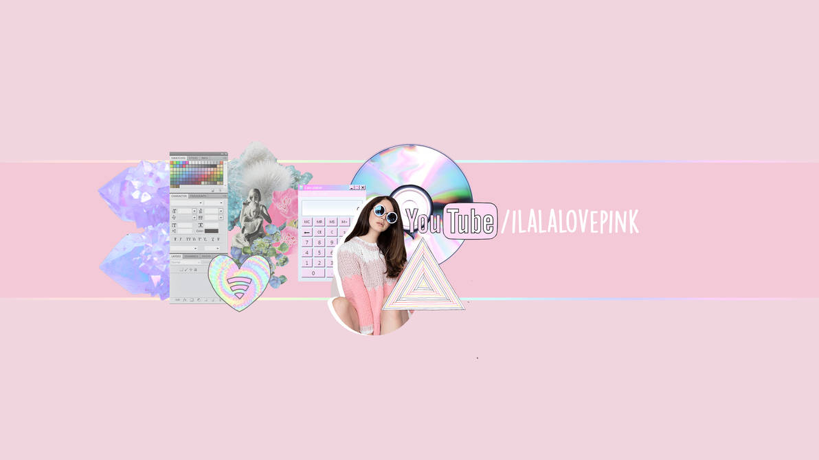 pastel grunge youtube banner template [psd] by iheartpink-rachel on