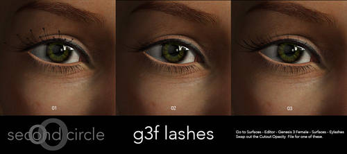Freebie : Genesis 3 Female Lashes