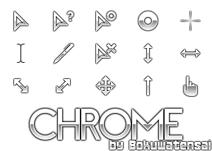 Chrome Cursor Set by bokuwatensai