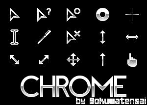 Chrome Cursor Set by bokuwatensai