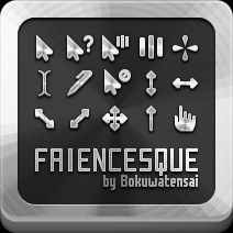 Faiencesque cursor set