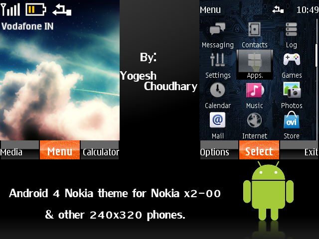 Android 4 Nokia theme for Nokia 240x320 phones by cyogesh56 on ...