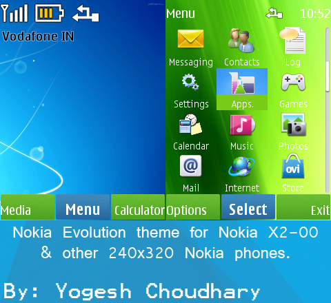 Nokia Evolution theme for Nokia X2-00 and others. by cyogesh56 on ...
