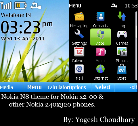 Nokia N8 theme for Nokia X2-00 and others. by cyogesh56 on DeviantArt