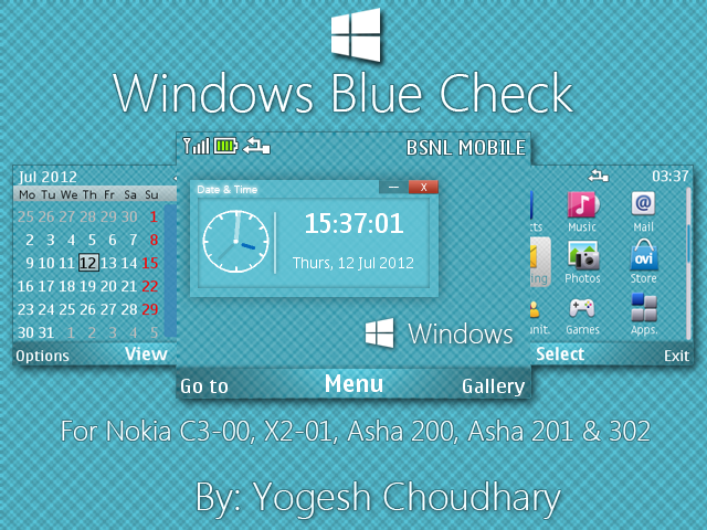 Windows Blue Check Theme for Nokia 320x240 by cyogesh56 on DeviantArt