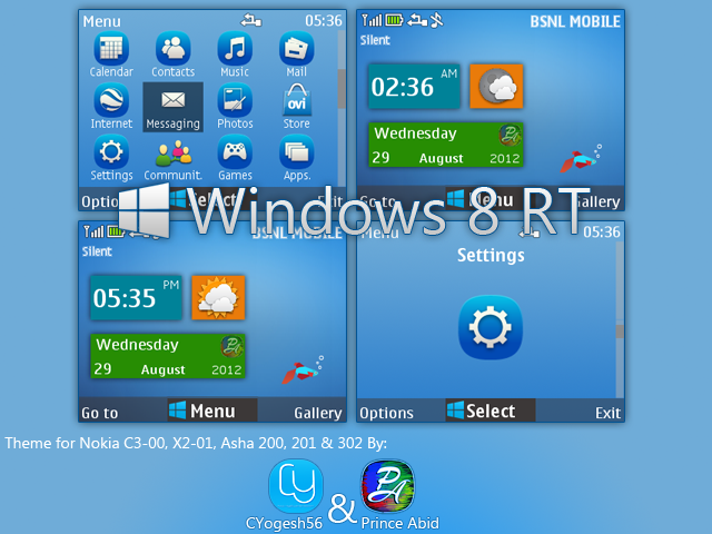 DeviantArt: More Like Windows 8 RT Theme for Nokia S40 320x240 by ...