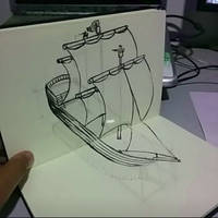 Pirate Ship Optical Illusion by chaitanyak