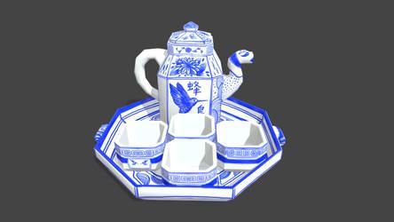 Low Poly Tea Set