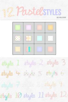 12 Pastel Styles