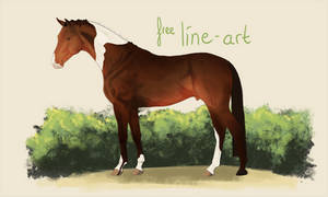 Warmblood Line-art by Valanee