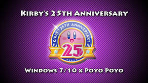 Kirby's 25th Anniversary Theme For Windows 7/10