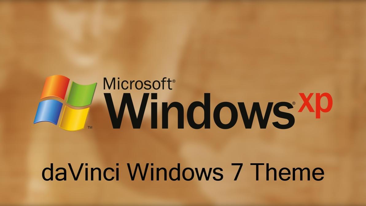 Windows XP Plus! daVinci Theme For Windows 7 by nc3studios08