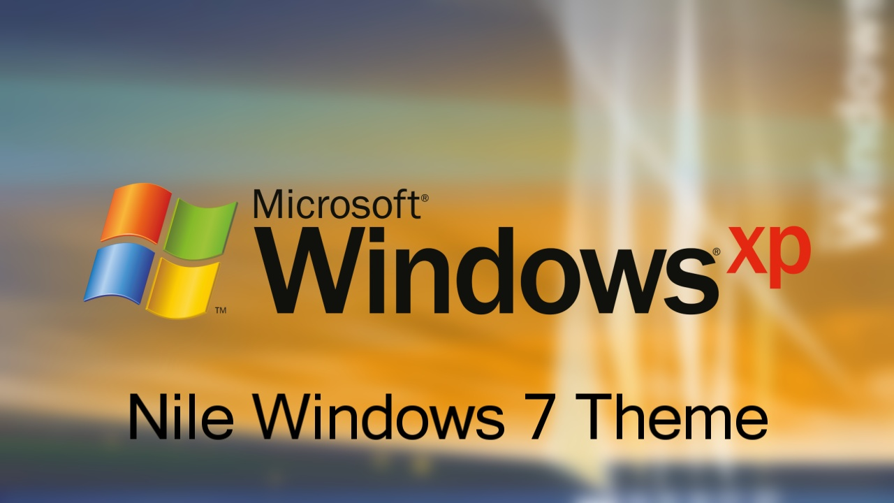 Windows XP Nile Theme For Windows 7 by nc3studios08