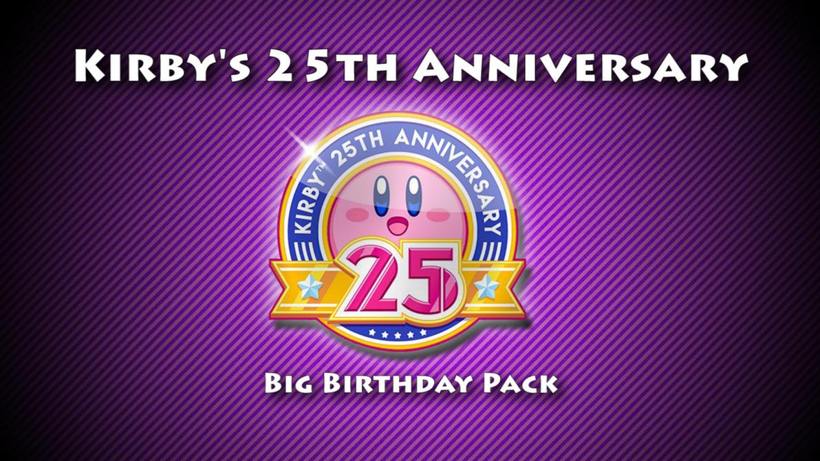 Kirby's 25th Anniversary Big Birthday Pack by nc3studios08