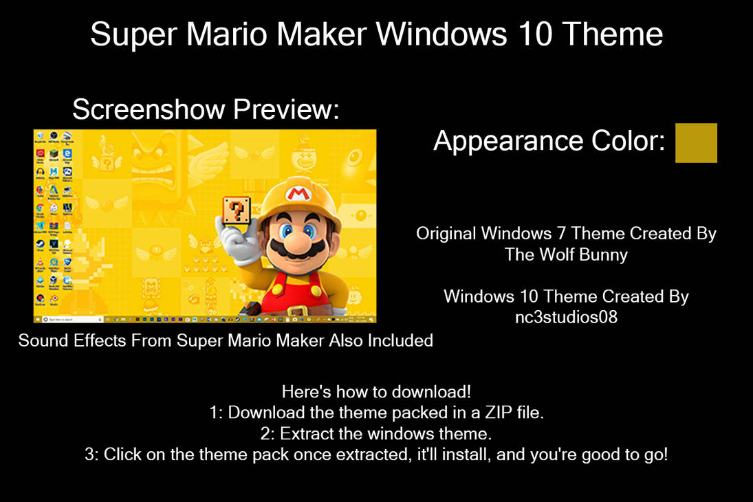 Super Mario Maker Windows 10 Theme by nc3studios08 on DeviantArt