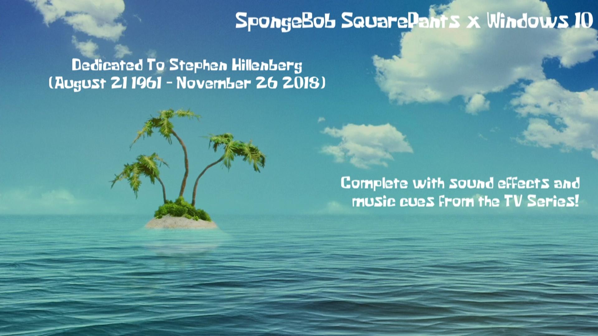 SpongeBob SquarePants Windows 10 Theme by nc3studios08 on