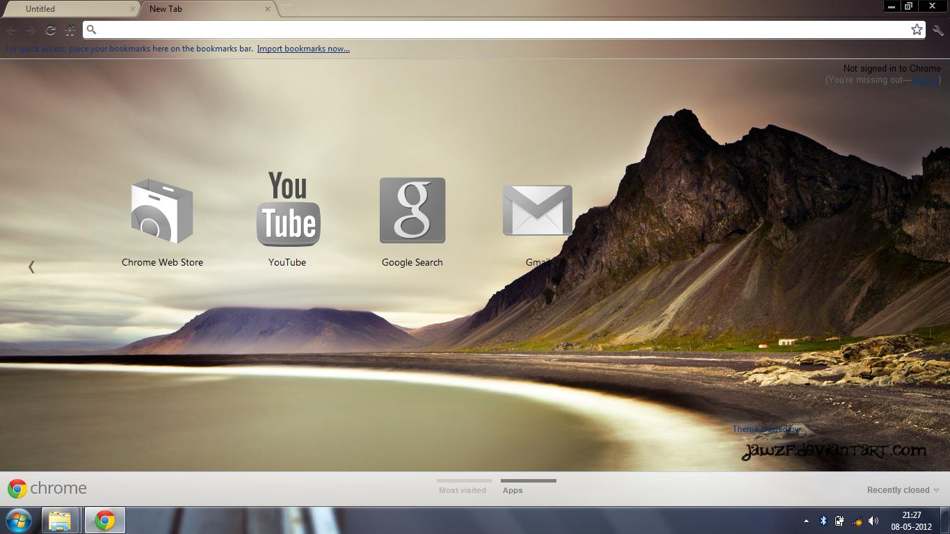 Google chrome themes gallery 2012 - Arc Google Chrome Theme By Jawzf
