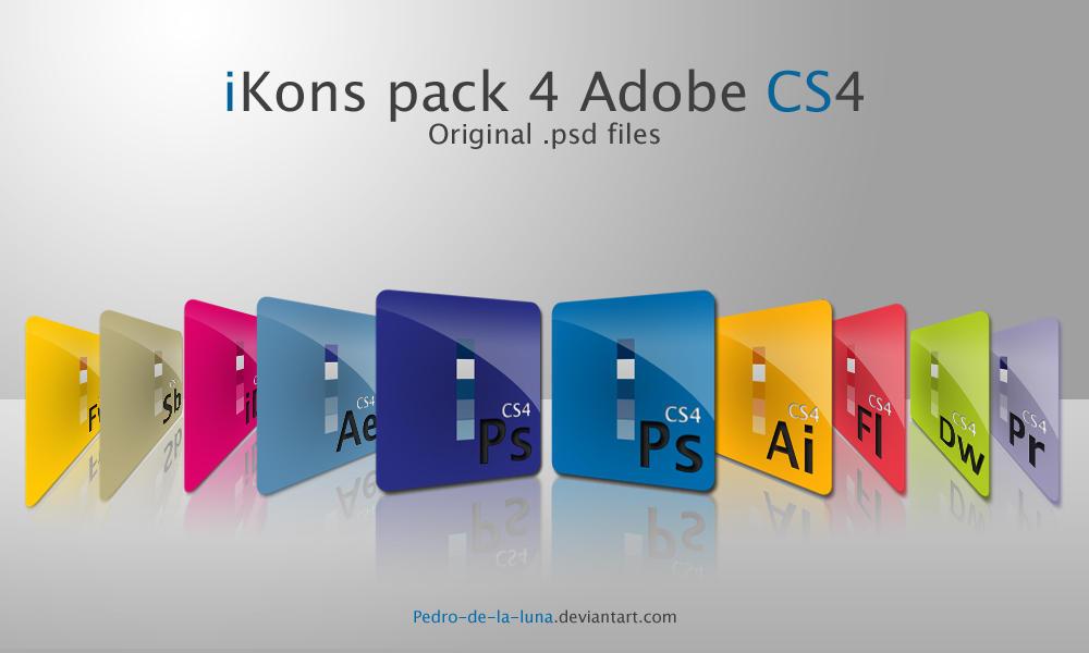 iKons 4 CS4 - Original psd by Pedro-de-la-Luna