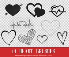 Heart Brushes - Photoshop by sweetpoisonresources