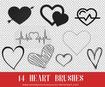 Heart Brushes - Photoshop