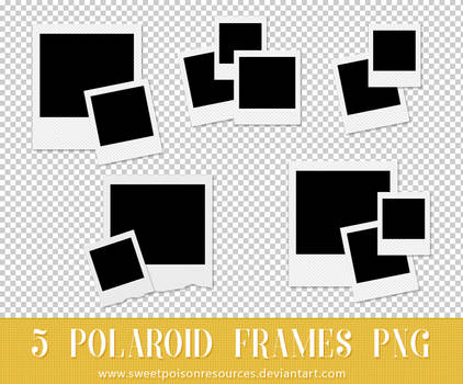 f4cda33e5a0 Deviant-Soulmates 215 16 Polaroid Frames - PNG by sweetpoisonresources
