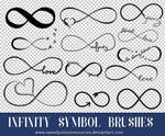 Infinity Symbol Brushes | Photoshop