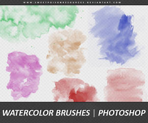 Watercolor Brushes | Photoshop by sweetpoisonresources