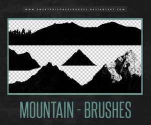 Mountain Brushes | Photoshop by sweetpoisonresources