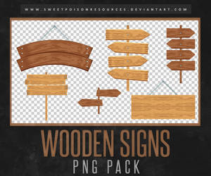 Wooden Signs | PNG