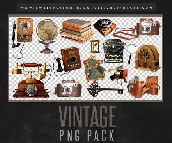 Vintage Png Pack By Sweetpoisonresources On Deviantart