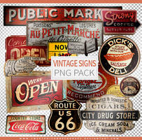 Vintage Signs | Png Pack by sweetpoisonresources