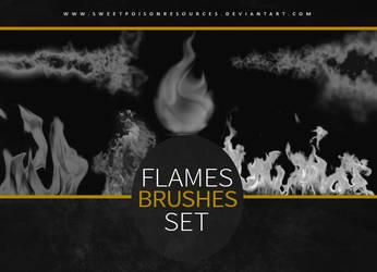 Flames Brushes | Photoshop by sweetpoisonresources